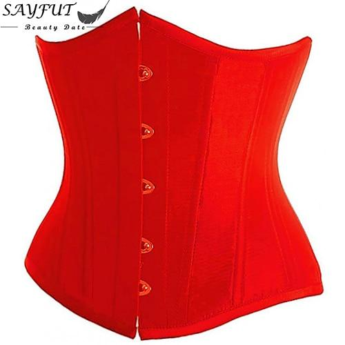 Plus Size 6XL Body Shapewear Womens Gothic Clothing Underbust Waist Trainer Lace up Corsets and Bustiers