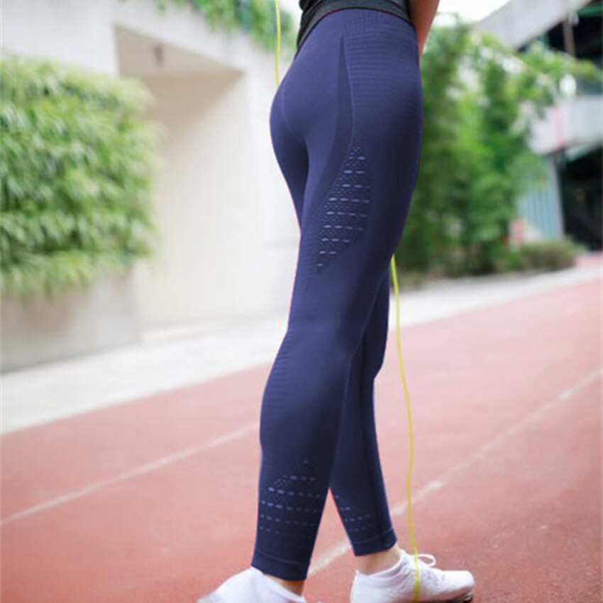 Women Energy Seamless Tummy Control Female Yoga Pants Super Bottom Stretchy Gym Tights High Waist Sport Leggings Running Pants