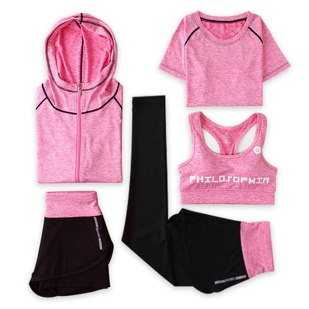 OKUQUBE Women Sport Suit Traceless Yoga Clothing Solid Fitness Wear Female Elastic Gym Set Breathable S-XXL Sportswear