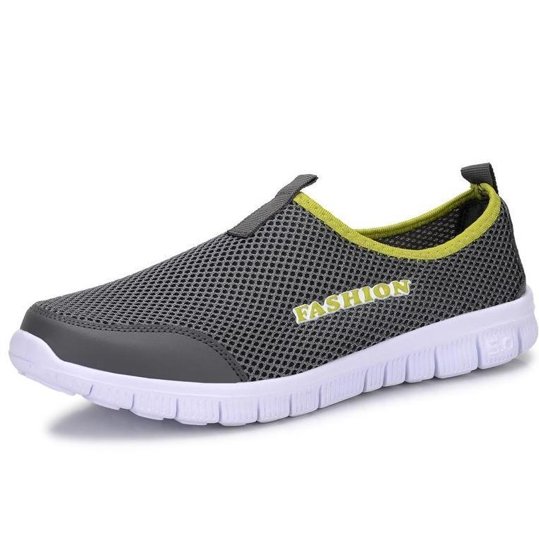 men casual air mesh shoes large sizes 38-46 lightweight breathable slip-on flats chaussure homme-SLIPS-SheSimplyShops