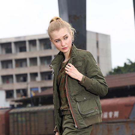 Women Fashion Army Green Jackets Winter New Casual Coats Jackets Cotton Warm Slim Fit Women's Clothing-Coats & Jackets-SheSimplyShops