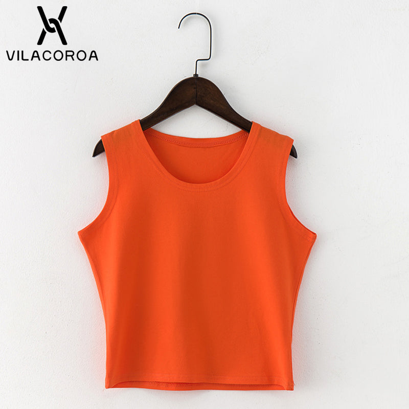 Black Round Neck Sleeveless Harajuku Women's T-shirt Cotton Crop Top Women's Shirt Girls Lady Tee Tops Streetwear Camiseta Mujer