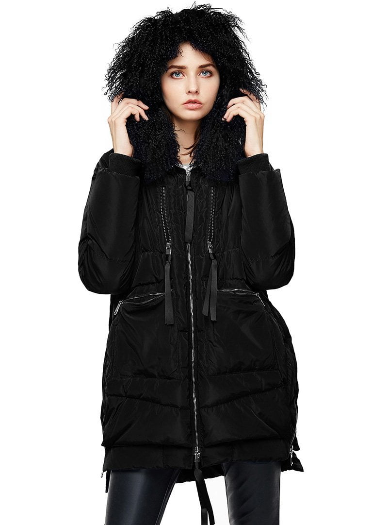 Down Coats Women Long Parka Removable Wool Fur Hooded Winter Thick long type Down Jacket-Coats & Jackets-SheSimplyShops