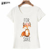 AMEITTE For Fox Sake - Flowers Watercolor Print T-Shirt Summer Women T-shirt Fashion Girl Casual Tops Woman White Cool Tees