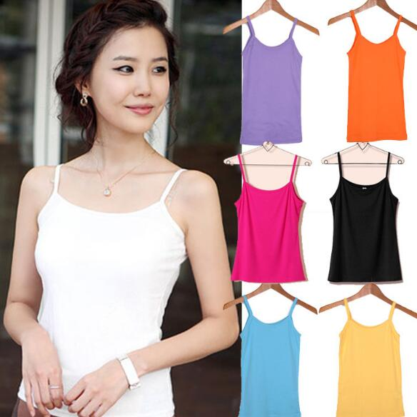 2019 Hot Sale Sexy Wonen Summer Tops Strap Ladies Camisole Bralette Clubwear Lingerie Underwear 8 Color