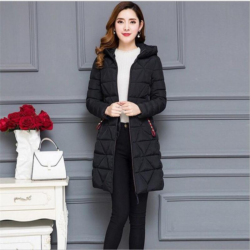 Plus Size 6XL Light&Thin 2018 Autumn Winter Women Jackets Female Down Cotton Jacket Slim Outerwear Casual Female Parkas Top Q595