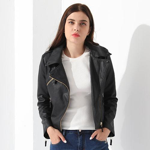Faux Leather Jacket Coat Women Autumn Basic Jackets Female Short Outwear Ladies Leather Jacket-Coats & Jackets-SheSimplyShops
