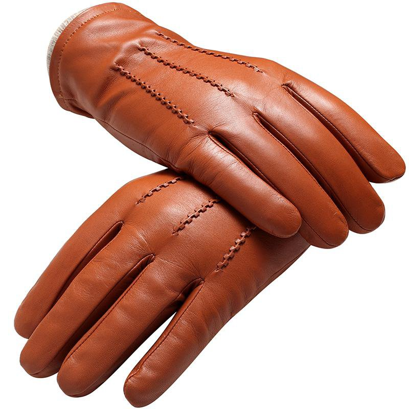 Genuine Leather gloves male gloves Fashion leather Vintage driving gloves Top Grade gloves winter black Weatherization-Tops-SheSimplyShops