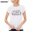 XUANSHOW 2018 New Arrival Women Tops Tee Summer Style O neck Casual Stranger Things Alphabet Printed Letters Female tshirt S-XXL