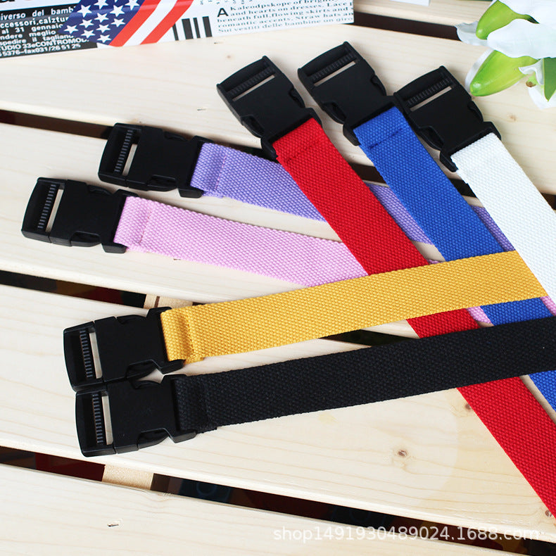 Candy Colors Top Quality belt Unisex Plain Webbing Waistband Casual Canvas Belt Metal Buckle Men Women Boys Jeans Belts 120cm
