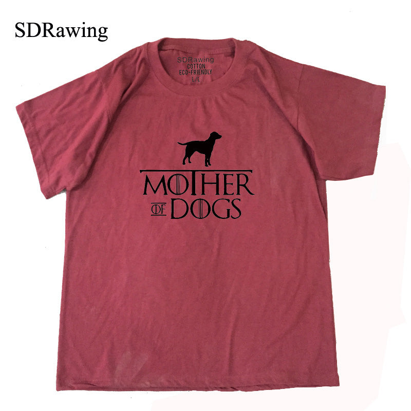 Funny Dog Lover Gifts For Dog Owners Pet T Shirt Mothers Day Gift For Animal Lovers Puppy Mother Of Dogs Ladies Tee casual tops