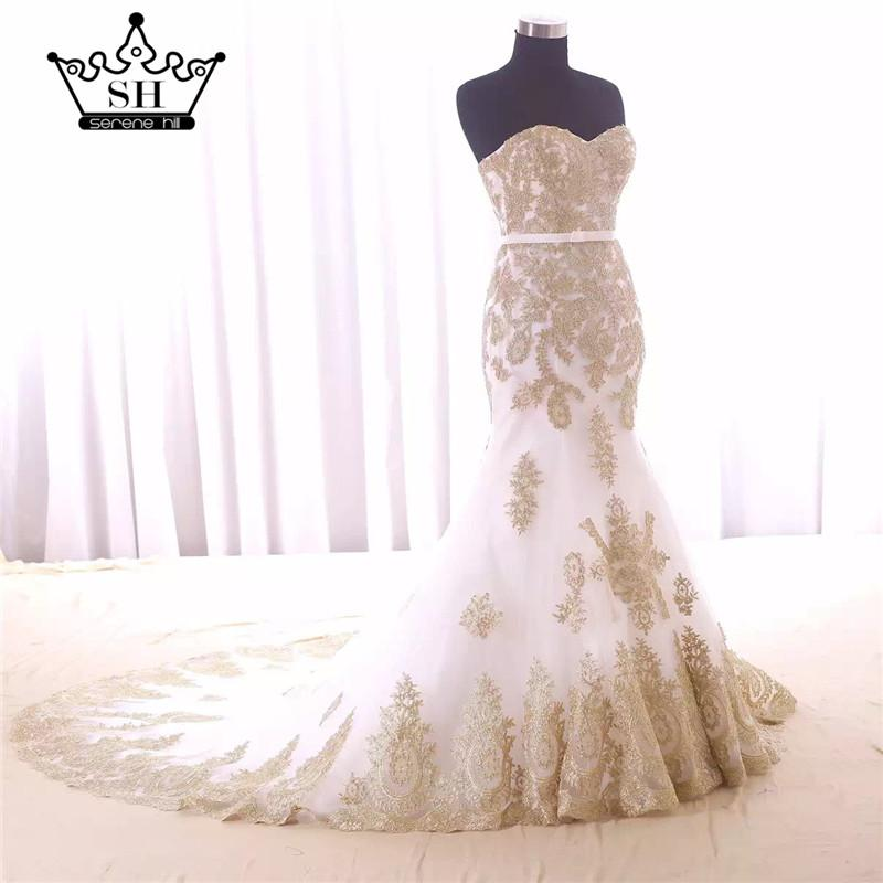 Luxury Mermaid Embroidery Wedding Dress Bridal Gown-Dress-SheSimplyShops