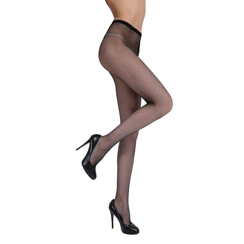 Small Mesh Nylon Pantyhose Solid Color Tights Female Elasticity Hollow Black Fishnet