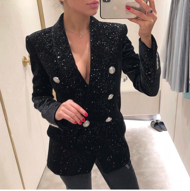 2018 newest  black  Long sleeve coat jacket summer autumn spring Sexy evening Party Bodycon wholesale womens clothing HL