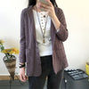 QAZXSW Spring Women Blazer Plus Size Women Jacket Cotton And Linen Coat Turn Down Collar Casual Blazer Feminino HB642