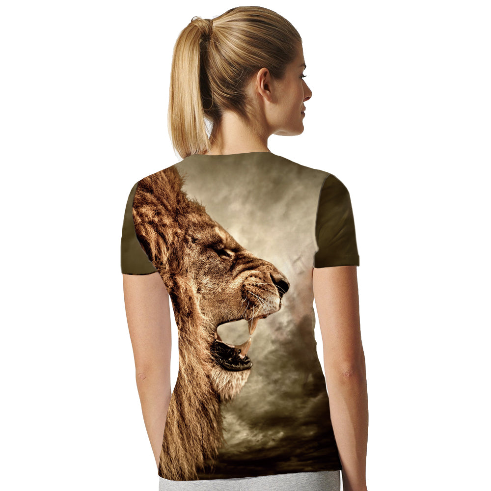 Lion T Shirt Universe Sky Galaxy Women Short Sleeve 3d T-shirts Print Anime T-shirt Animal Womens Brand Clothing 2017 Top Tee