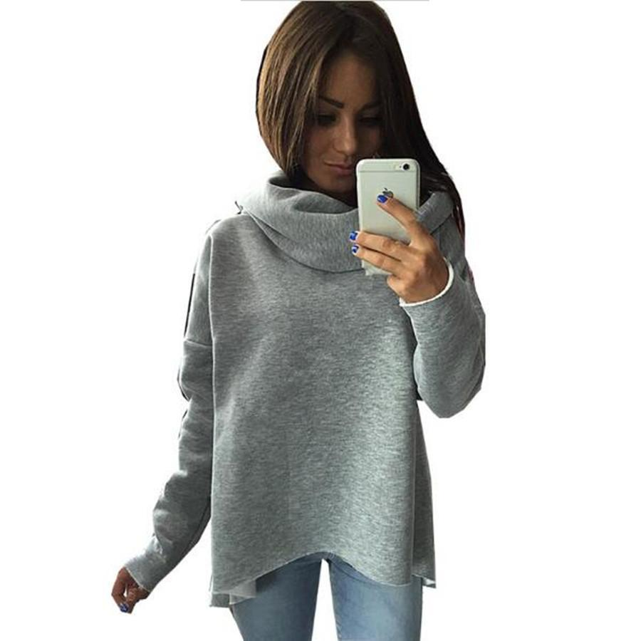 Christmas Clothes New Arrival Women Winter Hoodies Scarf Collar Long Sleeve Fashion Casual Autumn Sweatshirts-HOODIES-SheSimplyShops