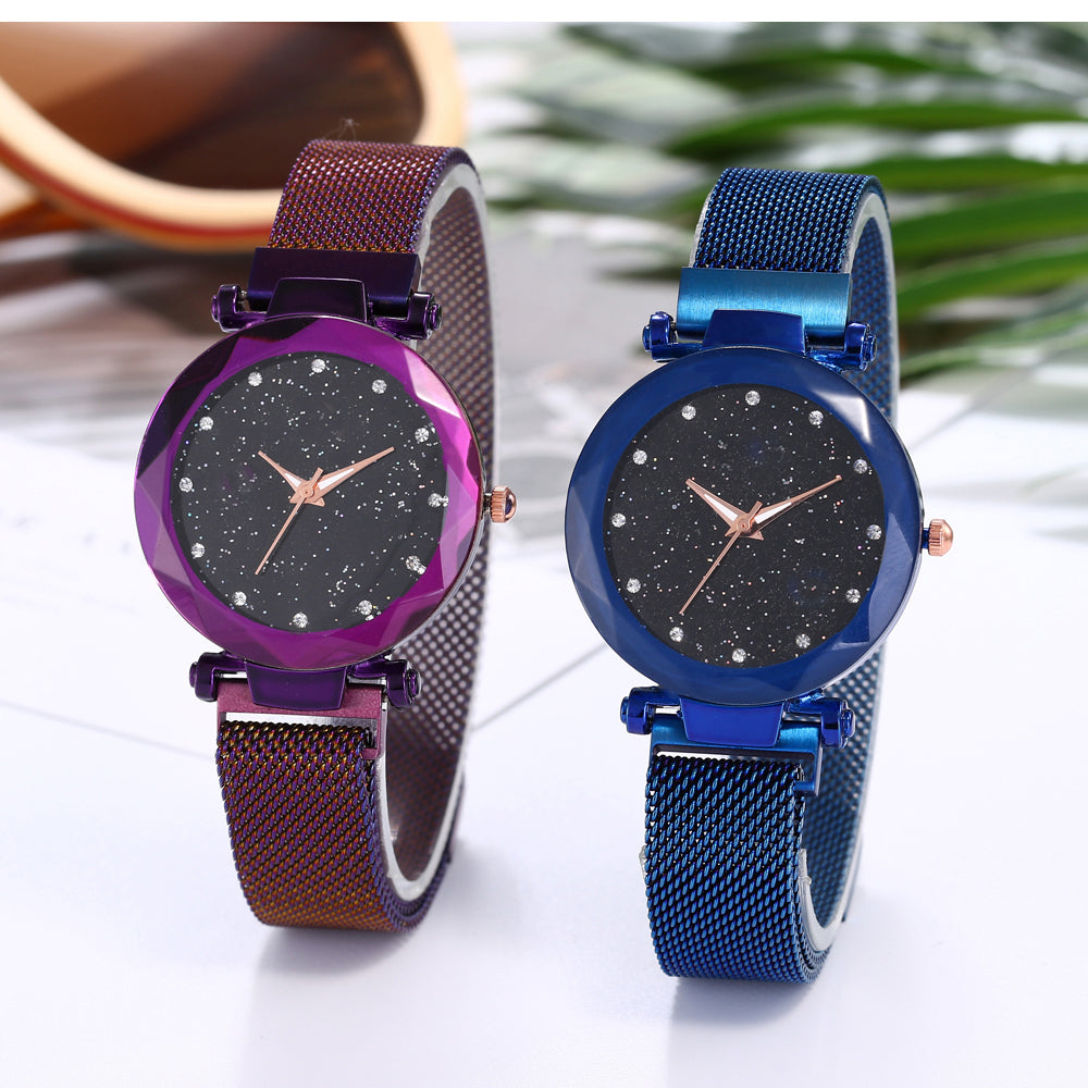 2019 Top Selling Women Watches Starry Sky Luxury Fashion Diamond Ladies Magnet Watches Women's Quartz Wristwatch reloj mujer