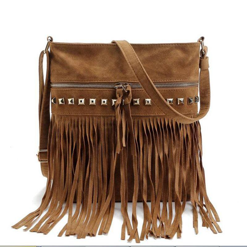 women messenger bags ladies shoulder bag bolsos tassel purse women's bag-BAGS-SheSimplyShops