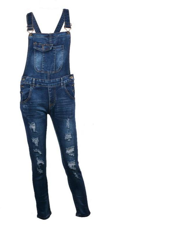 LASPERAL 2017 Sexy Hole Ripped Denim Jumpsuits Jeans Romper Women Fashion Pocket Overalls Skinny Sleeveless Long Pencil Pants-ROMPERS & JUMPSUITS-SheSimplyShops