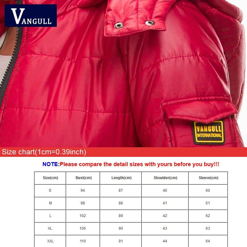 Vangull Women Cotton Winter Jacket 2018 New Long Parka Thick Cotton Padded Lining Winter Coat Ladies Women Slim Hooded outerwear