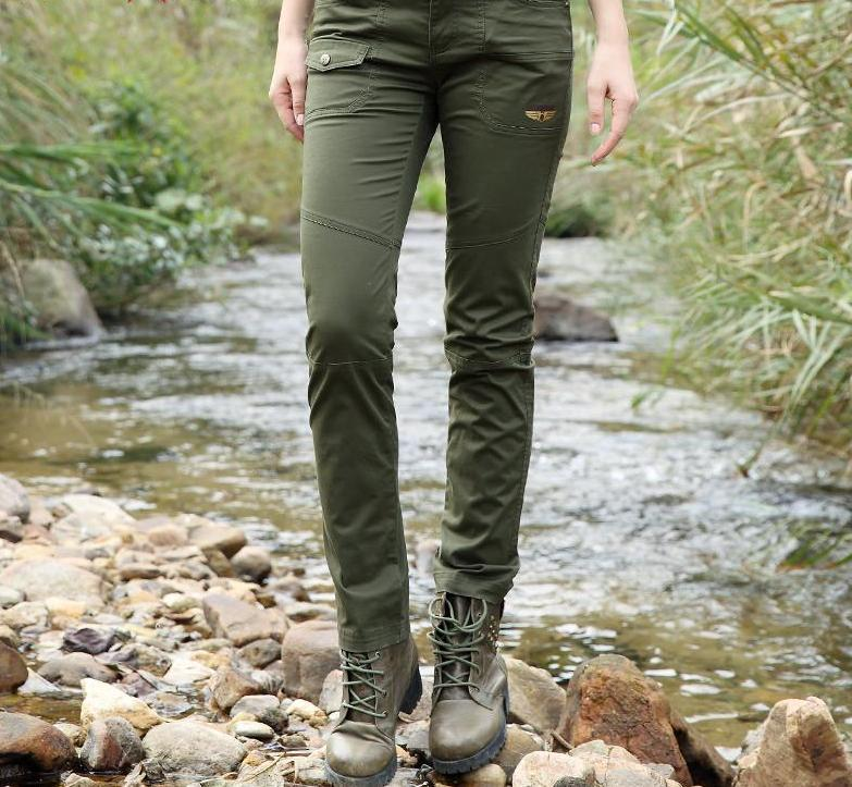 Army Green Pants Women Cargo Pants Women Military Trousers Fashion Casual Slim Baggy Pants Women GK-9585-PANTS-SheSimplyShops