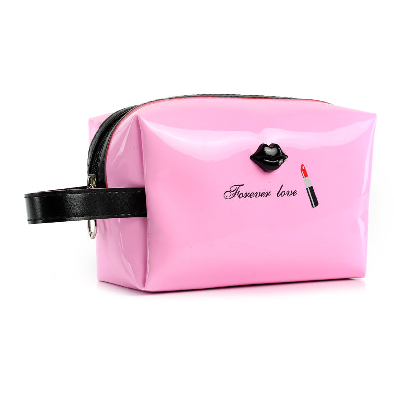 UOSC Women Female Travel Portable PU Cosmetic Case Bright Color Cosmetic Bag Woman Bags Multifunction Makeup Bag Neceser