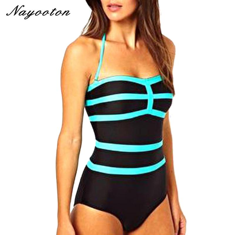 2017 new spell color sky blue stitching simple piece swim swimwear cover the belly was thin swimsuit Conservative Europe D036-SKIRTS-SheSimplyShops