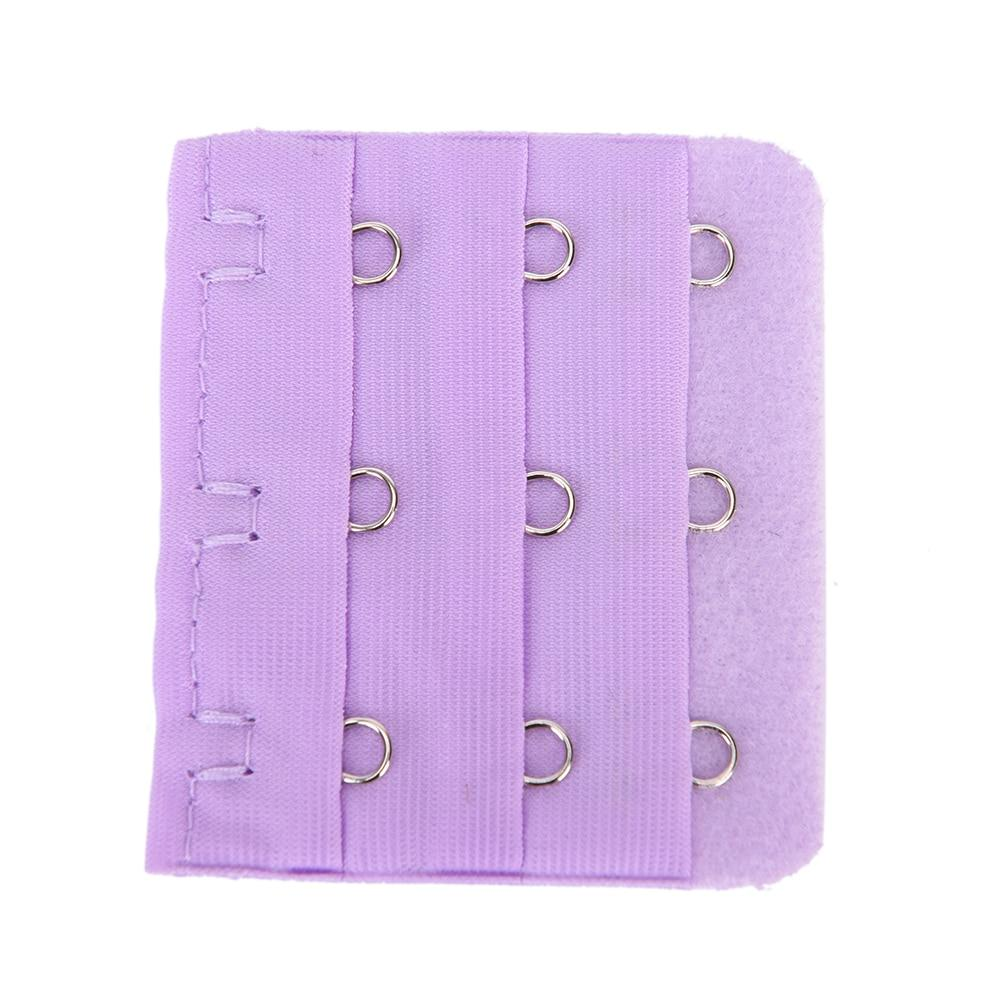3 Hooks Candy Color Intimates Accessories Replacement Bra Extender Bra Extender Strap Extension