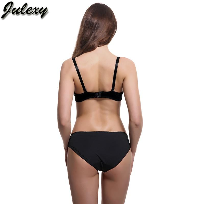 Julexy Brand New 2018 Big Size B C D Cup Women Bra Set Lace Embroidery Sexy Bra Brief Sets Intimate Cotton Underwear Panty Set
