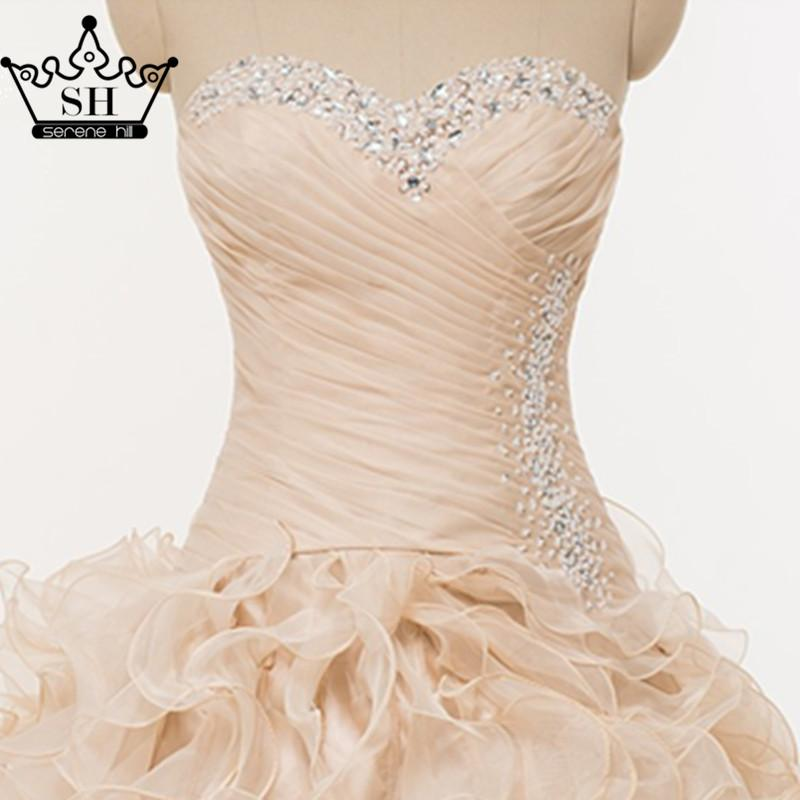Pink Ruffles photography Corset Beading wedding dress Ball Gown Ruffles wedding dress-Dress-SheSimplyShops