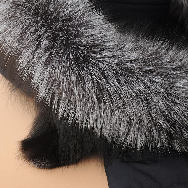 New Fashion Parka Winter Jacket Large Fur Collar Wool Outerwear Down Patchwork Women's Winter Woolen Overcoat-Coats & Jackets-SheSimplyShops