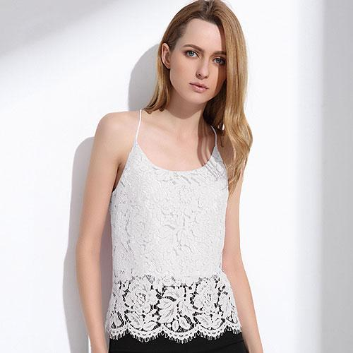 Lace Women Summer Tops Elegant White Strapless Camisole Hollow Solid Pink Halter Fashion Sexy For Women-Tops-SheSimplyShops