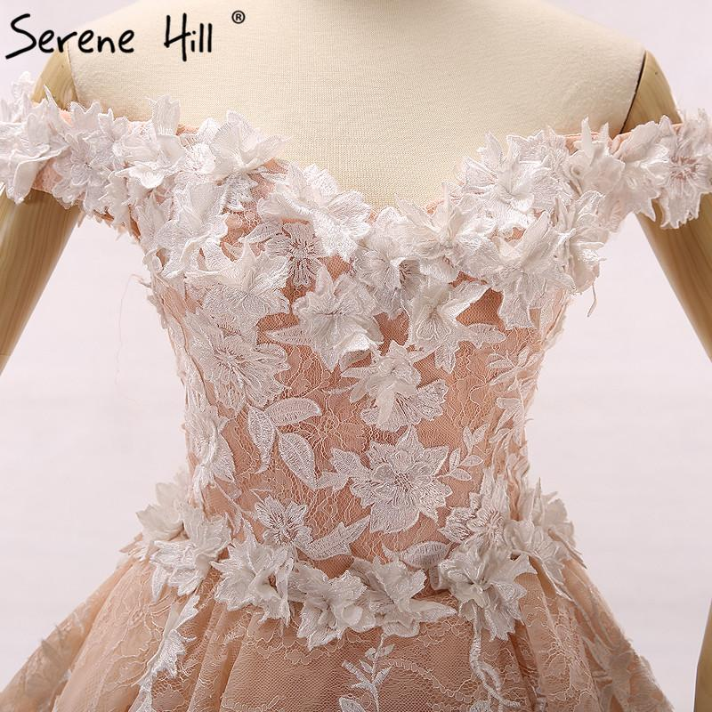 Romantic Peach Wedding Dress 3D Flower Photography Bridal Gown-Dress-SheSimplyShops
