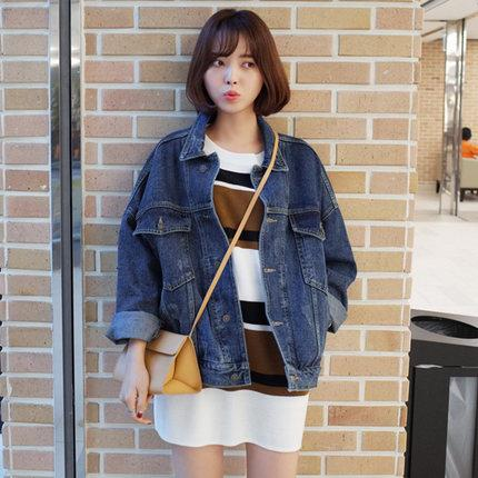 Laura's Store//Ladies popular casual streetwear denim coat, new arrival girls best wish short jeans coat free shipping