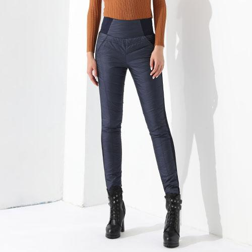 Winter Pant For Women High Waist Elastic Elegant Casual Down Pants Women's Warm Velvet Pencil Classic Pants-PANTS-SheSimplyShops