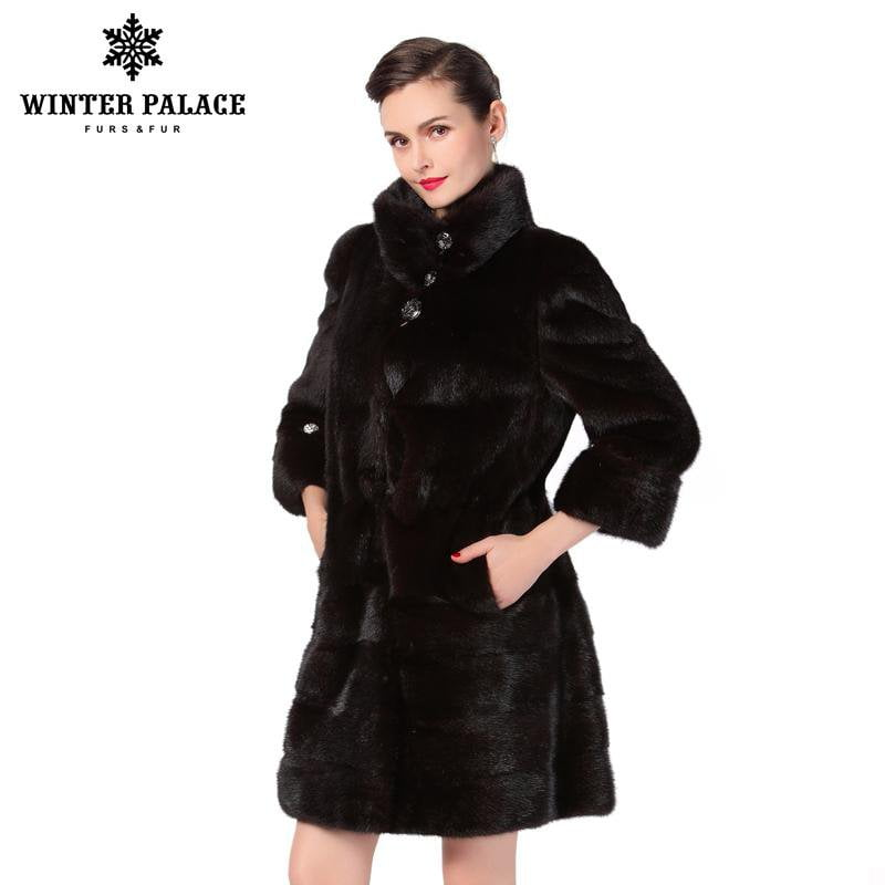 New style fashion fur coat,Genuine Leather,Mandarin Collar,good quality mink fur coat, women natural black coats of fur-Coats & Jackets-SheSimplyShops