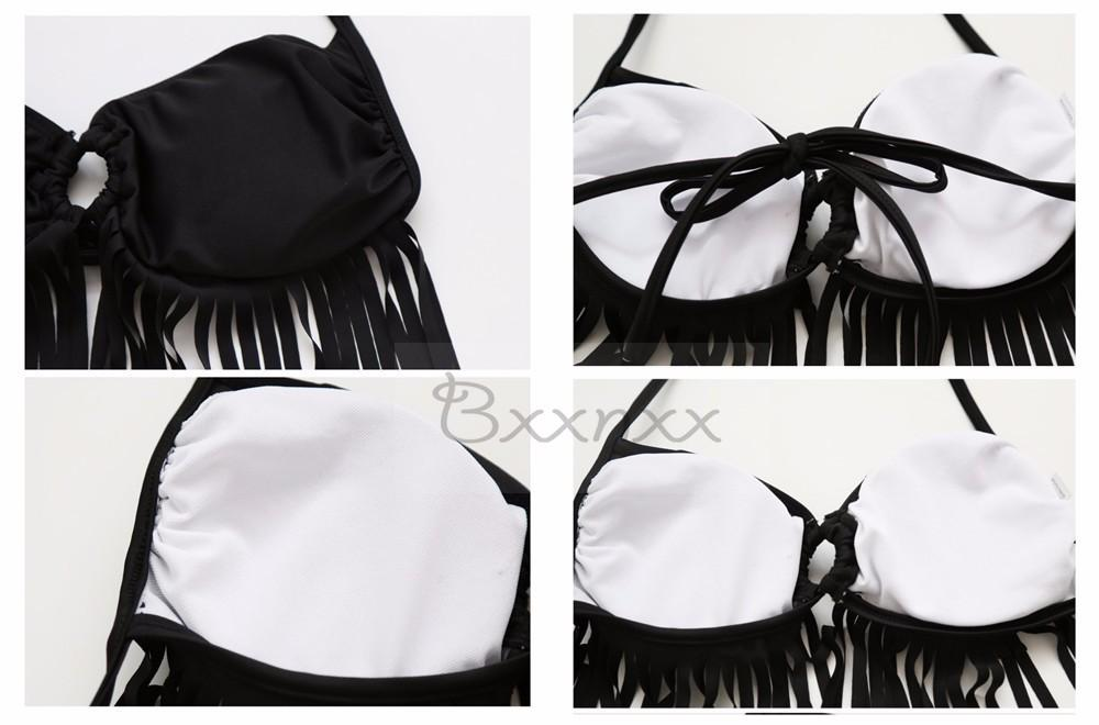 New Tassel bikini bikini cross body bikini vintage tassel swimsuit fringe swimwear bandage bathing suit-SheSimplyShops