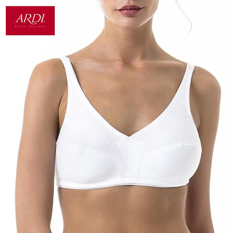 Woman's Wireless Sport Bra with Soft Cup for Cotton White Black-ACTIVEWEAR-SheSimplyShops