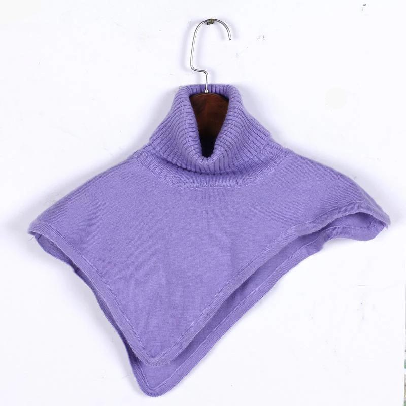 Women Winter Turtleneck Cashmere Blend Pullover Knitted Cape Ring Scarves Solid Color Warm-SCARVES-SheSimplyShops