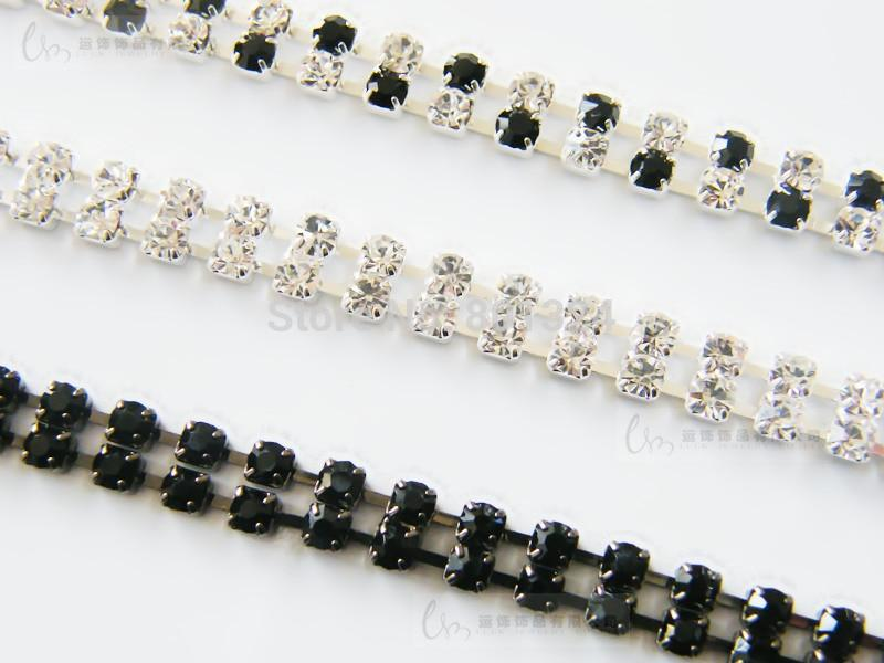 Transparent Clear 2 Rows Crystal Gorgeous Prom Diamante Rhinestone Bra Straps Belt Newest party underwear women bra strap
