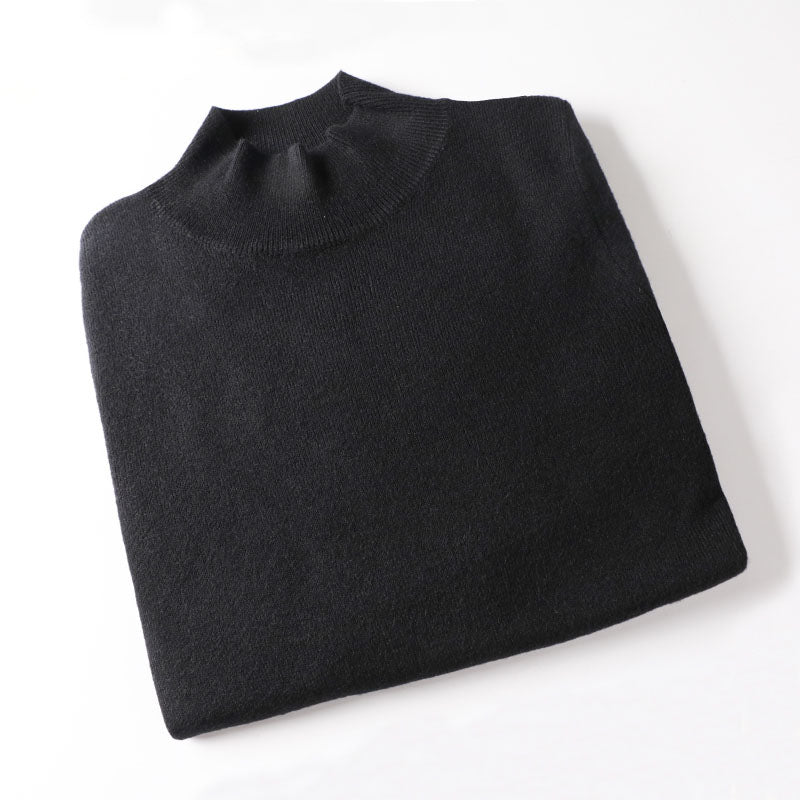 WOTWOY Cashmere Knitted Women Sweater Pullovers Turtleneck Autumn Winter Basic Women Sweaters Korean Slim Fit Black