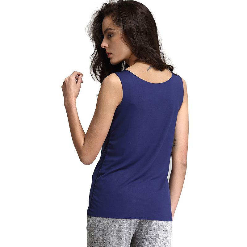 Fashion Sleeveless Tee Women Tanks Knitted Regenerated Spandex Ladies T Shirt Solid Summer Causal 7 Color Female-SHIRTS-SheSimplyShops