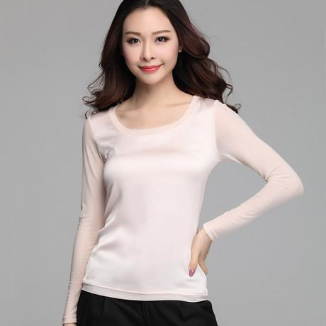 2019 new autumn women blouses casual chiffon silk blouse slim long sleeve O-neck blusa feminina tops shirts solid 8 color 65E 32