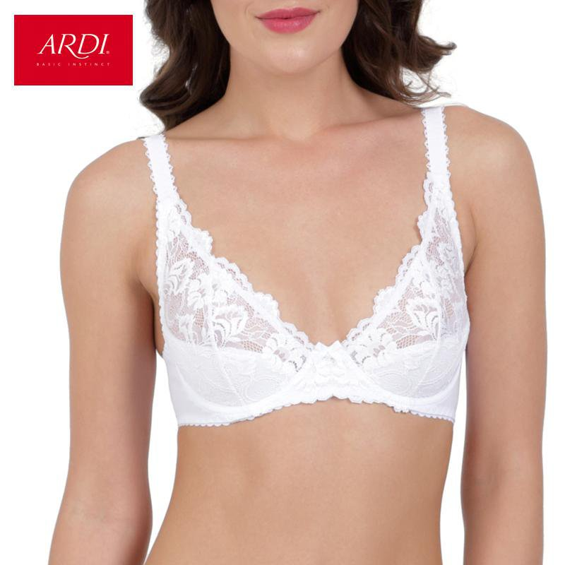 Woman's Wired Bra with Soft Cup Lace for White-PANTS-SheSimplyShops