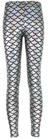 High elastic women Scale leggings Simulation mermaid Pencil Digital print colorful pants