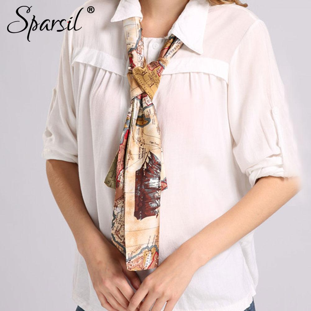 Women Autumn Printed Cravat Lady Spring Skin-Friendly Double Layer Cravats-SheSimplyShops