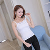 Cotton Simple Style Solid Color Lace Knitting Sling Tank Vest Summer Sexy Sleeveless Shirt Tops For Women Ladies FS0594