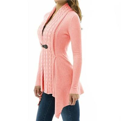 Autumn/Winter Sweater V Neck Women Jackets Black Slim Plus Size S-4XL Open Stitch Jacket Female Coats