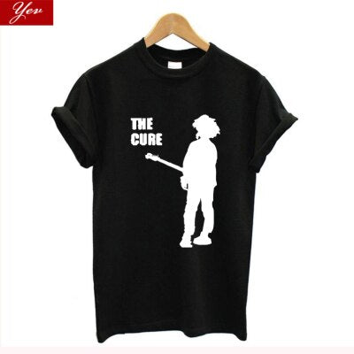 Post-Punk The Cure Harajuku Women T-shirts Casual oversized tee shirt femme Summer 100% cotton Female T shirt women clothes